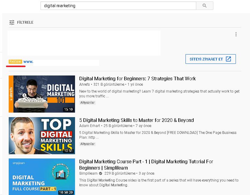 youtube görüntülü reklam