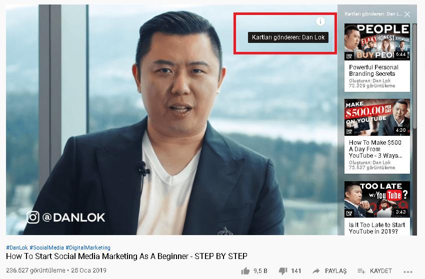 youtube sponsorlu kartlar